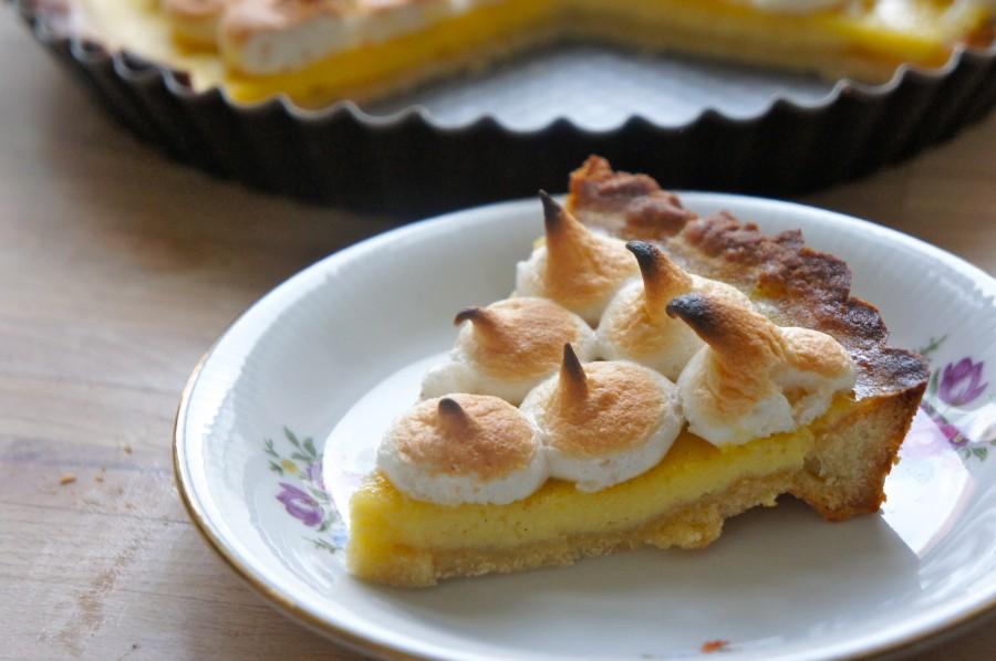 Minitærter med citron og marengs