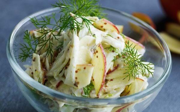 Fennikel- og æblesalat