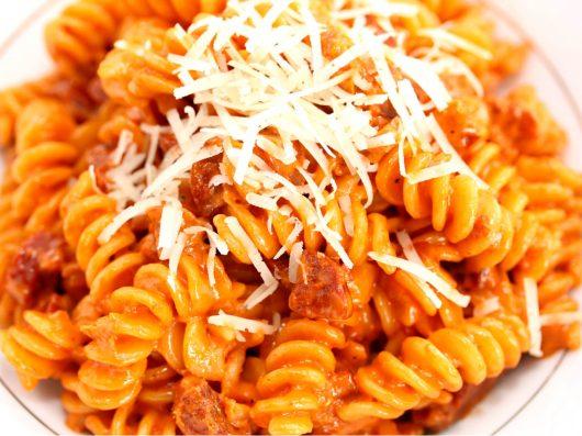 Hot pasta med chorizo